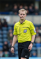 Referee Gavin Ward during the Sky Bet League 2 match between Wycombe Wanderers and Barnet at Adams Park, High Wycombe, England on 16 April 2016. Photo by Andy Rowland.