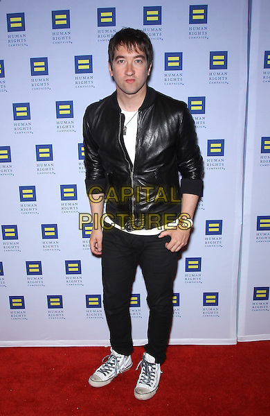 Tom Higgenson.Las Vegas Celebrities celebrate equal love at the 8th Annual Human Rights Campaign Dinner Gala at Aria Las Vegas, Las Vegas, Nevada, USA, 18th May 2013..full length black leather jacket .CAP/ADM/MJT.© MJT/AdMedia/Capital Pictures