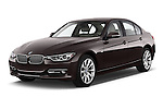 Front three quarter view of a 2012 - 2014 BMW 3-Series 320d Modern 4 Door Sedan.
