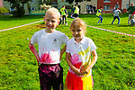 Kack & Kate Kelleher taking having fun at the Colour Scramble in Cahersiveen on Saturday.
