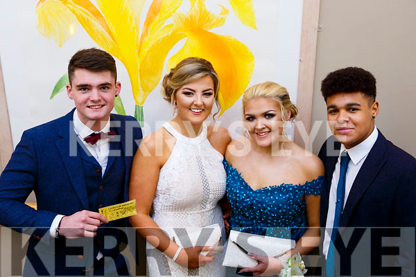 Attending the Mercy Mounthawk debs in the Ballyroe Heights Hotel on Thursday night last, l to r, Joe Looby, Michaela Chester, Hannah Lynchehen and Garoid Fitzgerald.