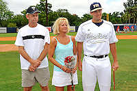 16 May 2010:  FIU's Scott Rembisz (30) and family pose for a photo on the field prior to the game as FIU honored its seniors.  The FIU Golden Panthers defeated the University of South Alabama Jaguars, 5-0, at University Park Stadium in Miami, Florida.
