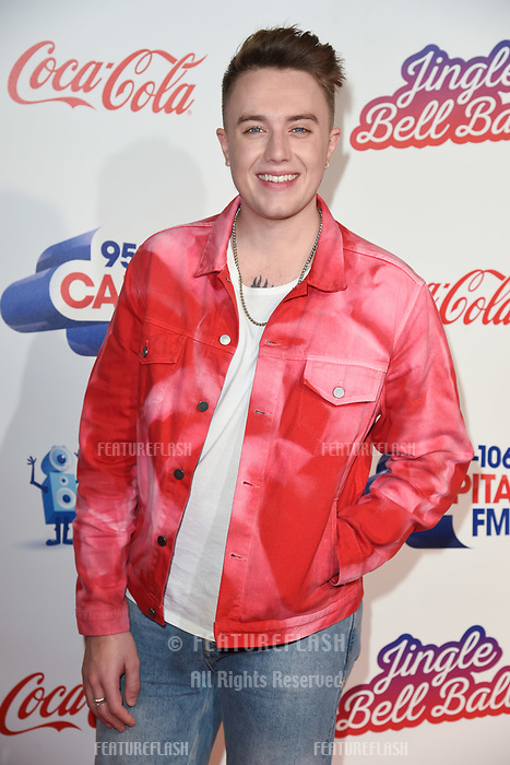 LONDON, UK. December 08, 2018: Roman Kemp at Capital&rsquo;s Jingle Bell Ball 2018 with Coca-Cola, O2 Arena, London.<br /> Picture: Steve Vas/Featureflash
