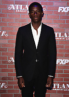 "LOS ANGELES - FEBRUARY 19:  Damson Idris at the red carpet event for FX's ""Atlanta Robbin' Season"" at the Ace Theatre on February 19, 2018 in Los Angeles, California.(Photo by Scott Kirkland/FX/PictureGroup)"