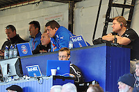 A view of the Bath coaching and analyst teams at the Recreation Ground. LV= Cup match, between Bath Rugby and the Newport Gwent Dragons on November 10, 2012 at the Recreation Ground in Bath, England. Photo by: Patrick Khachfe / Onside Images