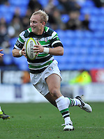 Reading, England. Shane Geraghty of London Irish in action during the LV= Cup match between London Irish and Sale Sharks at Madejski Stadium on November 11, 2012 in Reading, England.