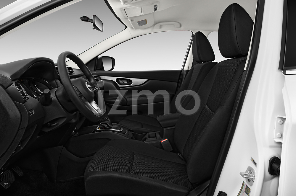 Front seat view of 2017 Nissan Rogue Sport S 5 Door SUV front seat car photos