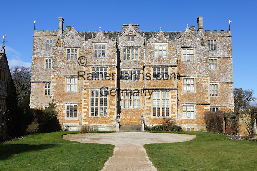 Great Britain, England, Oxfordshire, Cotswolds, Chastleton, near Chipping Norton: Chastleton House (Jacobean country house) | Grossbritannien, England, Oxfordshire, Cotswolds, Chastleton bei Chipping Norton: Chastleton House (Jakobinisches Landhaus)