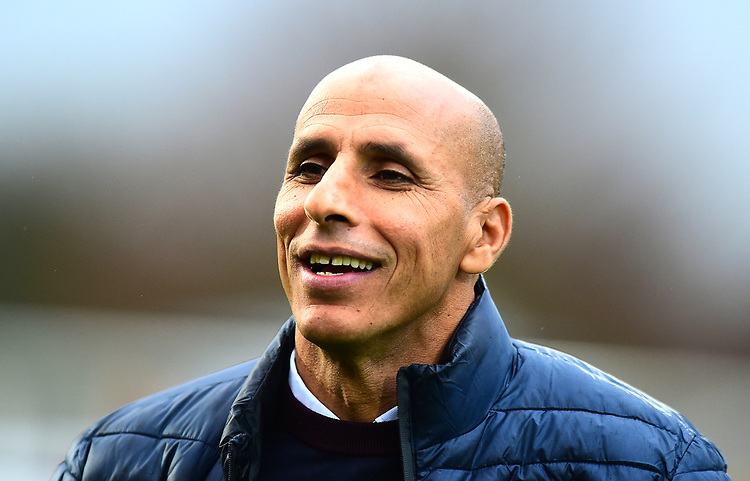 Stevenage manager Dino Maamria during the pre-match warm-up<br /> <br /> Photographer Andrew Vaughan/CameraSport<br /> <br /> The EFL Sky Bet League Two - Stevenage v Lincoln City - Saturday 8th December 2018 - The Lamex Stadium - Stevenage<br /> <br /> World Copyright © 2018 CameraSport. All rights reserved. 43 Linden Ave. Countesthorpe. Leicester. England. LE8 5PG - Tel: +44 (0) 116 277 4147 - admin@camerasport.com - www.camerasport.com
