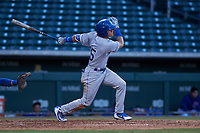 AZL Royals Warling Vicente (15) at bat during an Arizona League game against the AZL Cubs 1 on June 30, 2019 at Sloan Park in Mesa, Arizona. AZL Royals defeated the AZL Cubs 1 9-5. (Zachary Lucy/Four Seam Images)