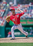 31 May 2014: Washington Nationals pitcher Jerry Blevins on the mound against the Texas Rangers at Nationals Park in Washington, DC. The Nationals defeated the Rangers 10-2, notching a second win of their 3-game inter-league series. Mandatory Credit: Ed Wolfstein Photo *** RAW (NEF) Image File Available ***