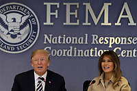 U.S. President Donald Trump and First Lady Melania Trump attend the 2018 Hurricane Briefing at the FEMA headquarters on June 6, 2018 in Washington, DC.<br /> <br /> CAP/MPI/RS<br /> &copy;RS/MPI/Capital Pictures
