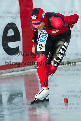 Germany's Isabell Ost competes in Women's 5000m race of the Speed Skating All-round European Championships in Budapest, Hungary on January 8, 2012. ATTILA VOLGYI