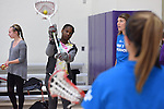 17 MAY 2016: The Florida Southern women's lacrosse team visits the Girls Athletic Leadership School of the 2016 Division II Sports Festival held in Denver, CO. Stephen Nowland/NCAA Photos