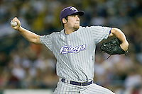TCU's Paul Gerrish in Game 6 of the NCAA Division One Men's College World Series on Monday June 21st, 2010 at Johnny Rosenblatt Stadium in Omaha, Nebraska.  (Photo by Andrew Woolley / Four Seam Images)