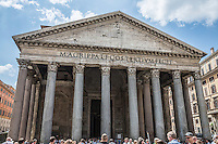 The Pantheon (temple of all gods) built, in 110 AD on the site of previous versions. It is in excellent condition and is still the largest unreinforced concrete dome in the world.(Photo by Travel Photographer Matt Considine)