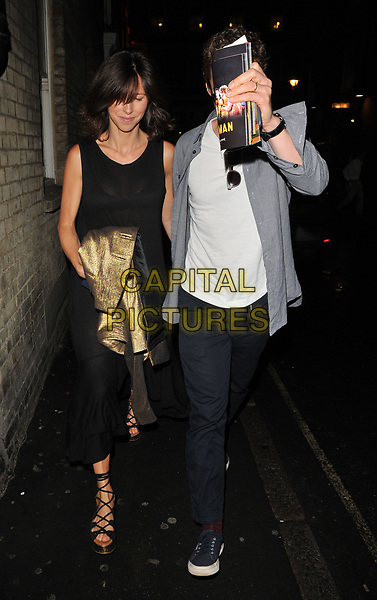 Sophie Hunter and Benedict Cumberbatch spotted walking along Archer Street in Soho ( &amp; trying to hide his face behind some theatre programmes ! ), London, England, UK, on Tuesday 18 July 2017.<br /> CAP/CAN<br /> &copy;CAN/Capital Pictures