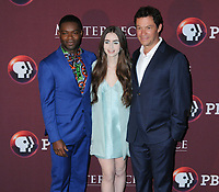 "08 April 2019 - New York, New York - David Oyelowo, Lily Collins and Dominic West at Times Talk with cast of ""LES MISERABLES"" at the Times Center. Photo Credit: LJ Fotos/AdMedia"