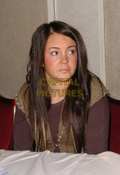 LACEY TURNER.The Mad Hatter's Tea Party, London, UK..January 22nd. 2006.Ref: CAN.half length .www.capitalpictures.com.sales@capitalpictures.com.©Capital Pictures