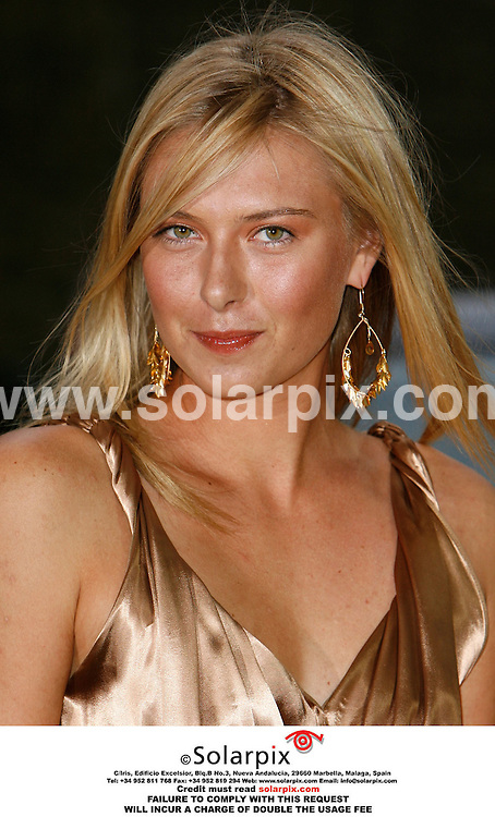 ALL ROUND PICTURES FROM SOLARPIX.COM..Maria Sharapova launches the new Land Rover Freelander 2 at the Kensington Roof Gardens in London on 22.06.06. Job Ref: 2519/PRS..MUST CREDIT SOLARPIX.COM OR DOUBLE FEE WILL BE CHARGED.