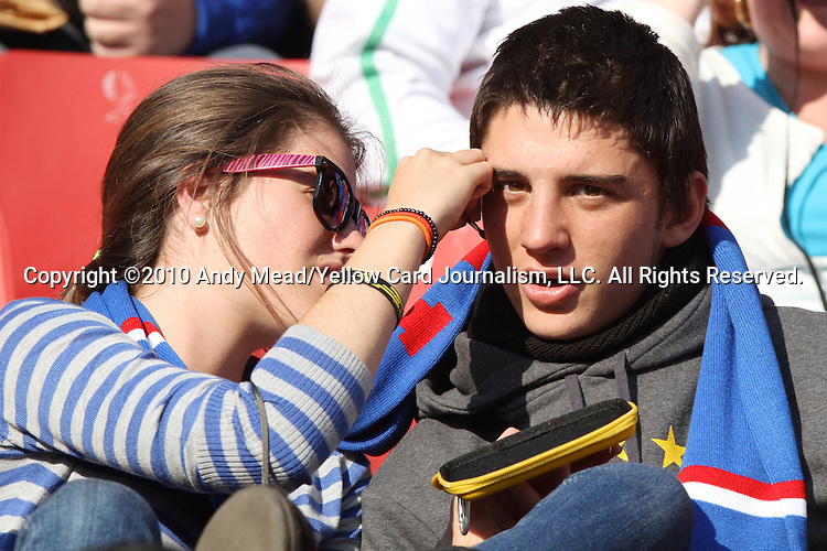 24 JUN 2010: Fans paint each other's faces, pregame. The Slovakia National Team played the Italy National Team at Ellis Park Stadium in Johannesburg, South Africa in a 2010 FIFA World Cup Group F match.