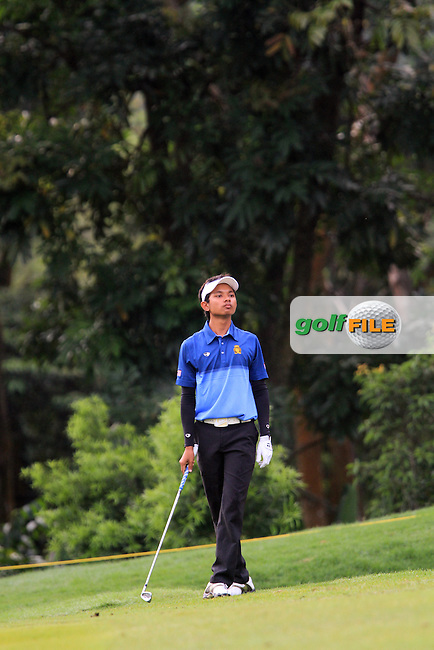 Muhammad Afif Razif (MAS) on the 1st on Day 1 of the Maybank Malaysian Open 2012 at Kuala Lumpur Golf and Country Club, Kuala Lumpur, Malaysia...(Photo Jenny Matthews/www.golffile.ie)