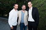 Former Players Juan Carlos Navarro (l) Carlos Cabezas and Francesc Cabezas (r) during the first edition of Spanish Basketball Awards. July 25, 2019. (ALTERPHOTOS/Francis Gonzalez)