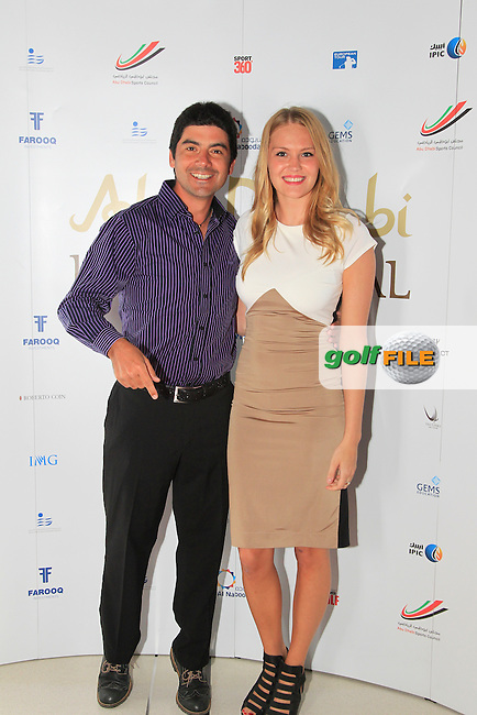 Felipe Aguilar during the 2015 Abu Dhabi Invitational Gala Evening held at The Viceroy Hotel, Yas Island, Abu Dhabi.: Picture Eoin Clarke, www.golffile.ie: 1/25/2015