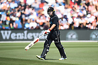 Blackcaps Tom Latham walks of out during the 5th ODI Blackcaps v England. Hagley Oval, Christchurch, New Zealand. Saturday 10 March 2018. ©Copyright Photo: Chris Symes / www.photosport.nz
