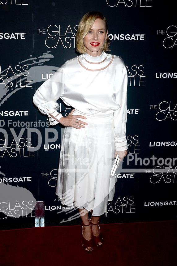 Naomi Watts bei der Premiere des Kinofilms 'The Glass Castle / Schloss aus Glas' im SVA Theater. New York, 09.08.2017