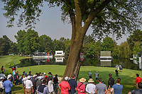 A wide view of the 17th green and lake with the tee box back in far left side during round 2 of the World Golf Championships, Mexico, Club De Golf Chapultepec, Mexico City, Mexico. 3/2/2018.<br /> Picture: Golffile | Ken Murray<br /> <br /> <br /> All photo usage must carry mandatory copyright credit (&copy; Golffile | Ken Murray)