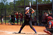Nazareth College Golden Flyers Kristen Simmons (2) at bat during a game against the Edgewood Eagles on March 12, 2017 at North Collier Park in Fort Myers, Florida.  (Mike Janes/Four Seam Images)