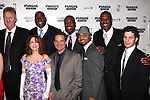 "Larry Bird, Tug Coker, Kevin Daniels & Earvin 'Magic' Johnson with Deirdie O'Connell, Peter Scolari, Francois Battiste & Thomas Kail.attending the Broadway Opening Night Performance After Party for ""Magic / Bird"" at the Edison Ballroom in New York City on April 11, 2012"