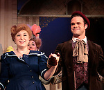 "Jillian Weimer ""Ermengarde"" & Jamey Grisham ""Ambrose Kemper"" star in Hello Dolly at the Barn Theatre iin its 68th season n Augusta, Michigan on opening night on August 19, 2014 at the curtain call. (Photo by Sue Coflin/Max Photos)"