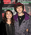 Karen Allen with her son, Nick Browne attending the Opening Night Performance of The Rattlestick Playwrights Theater Production of 'A Summer Day' at the Cherry Lane Theatre on 10/25/2012 in New York.