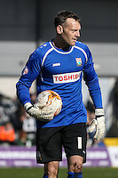 Graham Stack of Barnet during the Sky Bet League 2 match between Barnet and Luton Town at The Hive, London, England on 28 March 2016. Photo by David Horn.