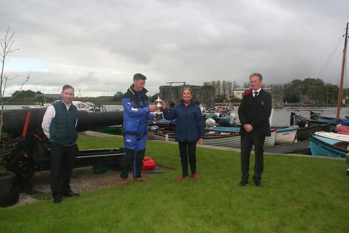 LR Peter Fergus, Cóilín Óg Hernon (skipper of Asurnaí), Paula Carroll, Leo Leonard