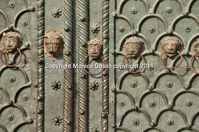 The door of Saint Mark's Basilica in Venice, Italy