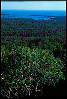 THE VIEW FROM ATOP MOUNT FRANKLIN ON THE GREENSTONE TRAIL ON ISLE ROYALE NATIONAL PARK.