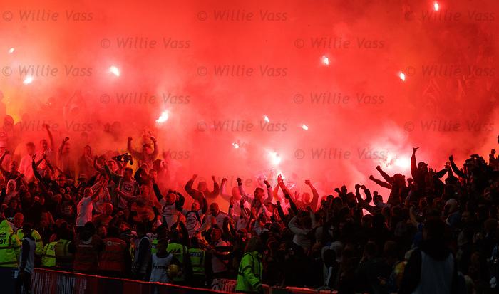 29.08.2019 Rangers v Legia Warsaw: Legia fans