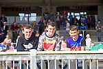 Pierse O'Sullivan, Jack O'Sullivan and Sean Welch from Ballybunion enjoying the Listowel Races on Sunday