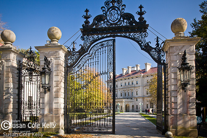Gateway to The Breakers, Newport, RI, USA