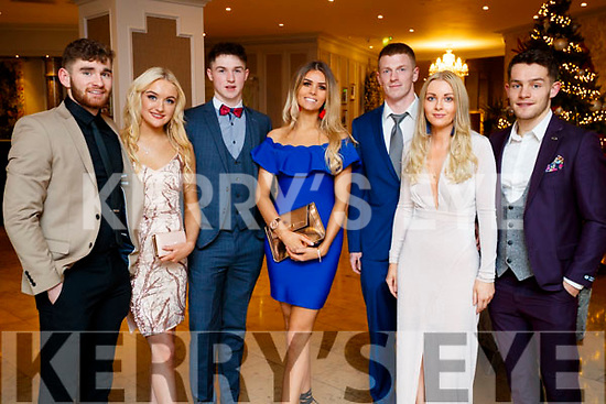 Eanna Ó Conchuir, Aisling Coyle Rob Ó Sé, Celine O'Meara, Tomas Mac An t-Saoir, Roisin Walsh and Tomás Ó Sé, pictured at the Kerry GAA awards held at The Rose Hotel, Tralee on Saturday night last.