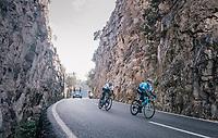 Alejandro Valverde (ESP/Movistar), Gianni Moscon (ITA/SKY) & Tim Wellens (BEL/Lotto-Soudal) in the race finale<br /> <br /> Trofeo Lloseta - Andratx: 140km<br /> 27th Challenge Ciclista Mallorca