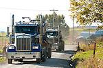 Water Trucks. Bradford County, Marcellus Shale, Pennsylvania.