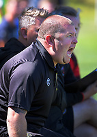 Team Wellington coach Scott Hales makes his feelings known during the ISPS Handa Premiership football match between Team Wellington and Tasman United at David Farrington Park in Wellington, New Zealand on Sunday, 9 February 2020. Photo: Dave Lintott / lintottphoto.co.nz