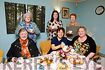 Enjoying the Recovery Haven annual Pink Nails Coffee Morning on Thursday were front l-r Phil McCarthy, Noreen O'Flaherty, Samantha Sugrue, Eileen Quirke, Marisa Reidy and Eileen McKenna