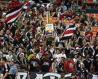 Fans of D.C. United during an MLS match against the Columbus Crew at RFK Stadium on September 4 2010, in Washington DC. Columbus won 1-0.