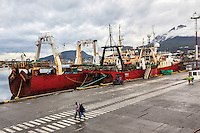 The docks at Ushuaia, Argentina is one of the departure points for Antarctic travel.