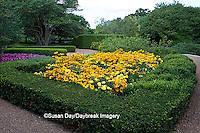 63821-20808 Gardens with Indian Summer Black-eyed Susans (Rudbeckia Hirta 'Indian Summer')  Prairie Sun Black-eyed Susans (Rudbeckia Hirta 'Prairie Sun') Marvel Yellow Marigolds  Cantigny, Wheaton, IL